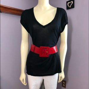 Yves Saint Laurent Rive Gauche Patent Leather Belt